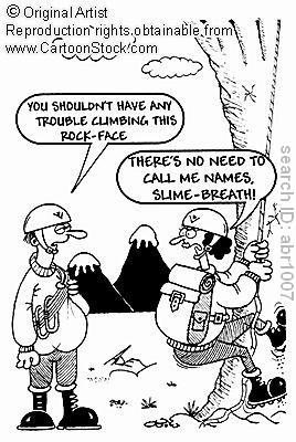 Rock Climbing Photo: climbers conversation