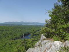 Rock Climbing Photo: View of the pond from the top you can see Gunstock...