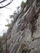 Rock Climbing Photo: Jon on the FA of Winter Classic