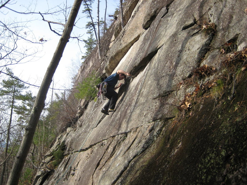 Rock Climbing Photo: Jay after the rail