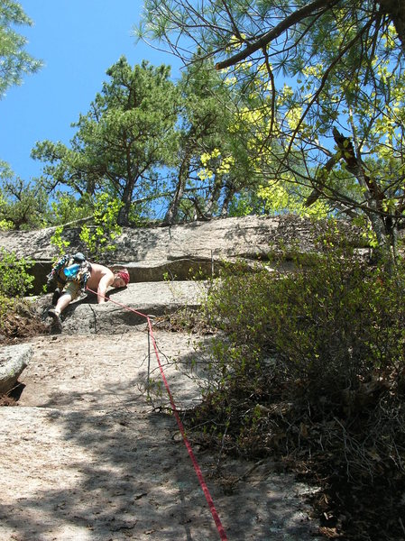 This is me leading the second pitch.<br> Photo by Loran Smith