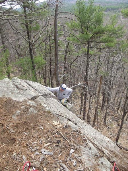 Jimbo aproching the top