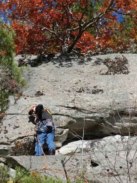 Rock Climbing Photo: Todd Swain on the FA of Tardis