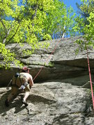 Rock Climbing Photo: I know its an ass shot but its a photo of the rout...
