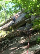 Rock Climbing Photo: The bottom half,and after the hand traverse Photo ...