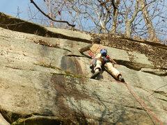 Rock Climbing Photo: Jon Howard getting ready to slap in a bolt on the ...