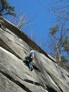 Rock Climbing Photo: Jon on the lead.
