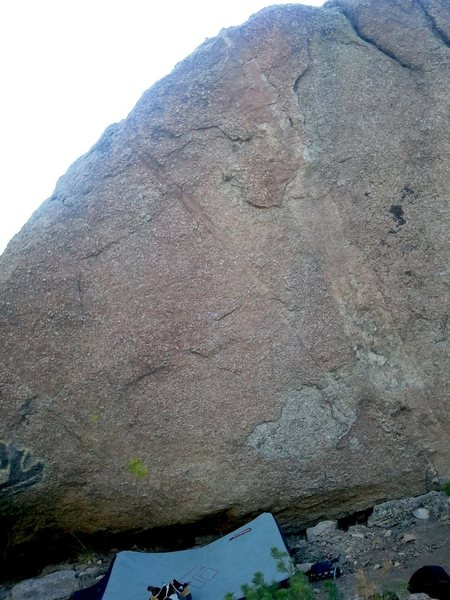 Rock Climbing Photo: The route heads up through bigger features in the ...