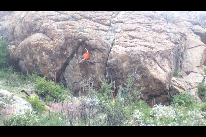 Kegan Minock on the 2nd ascent.