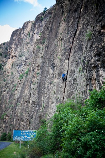 Rock Climbing Photo: Karsten on first pitch of Knife.
