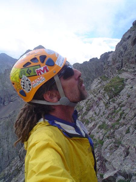 Rock Climbing Photo: Ellingwood Arete/Ledges. Contemplating the crux pi...