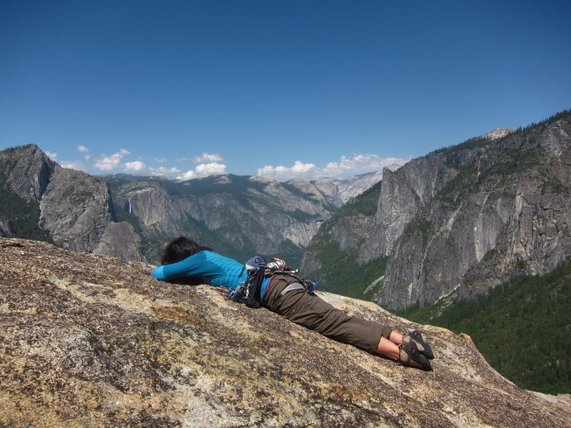 afternoon nap on the summit of higher cathedral spire