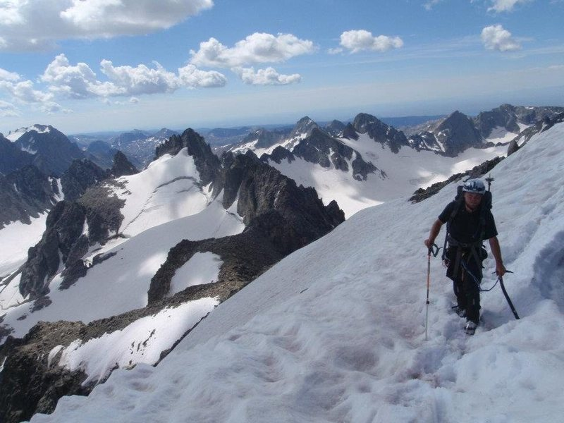 The traverse at the top