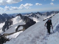 Rock Climbing Photo: The traverse at the top