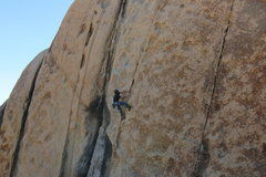 Rock Climbing Photo: Few clips up into the business of Boulderado. Than...