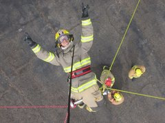 """Rock Climbing Photo: Our """"up & over"""" drill for the fire acade..."""