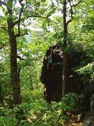 Rock Climbing Photo: Ryan topping out.