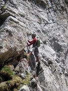 Rock Climbing Photo: Start of pitch 10.