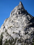 Rock Climbing Photo: A good look at the north face route (most of the c...