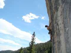 Rock Climbing Photo: Carl dodges the bullet on Ricochet, 5.12c.   India...