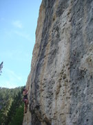 Rock Climbing Photo: Alison Coin on the start of Ricochet, 5.12c.
