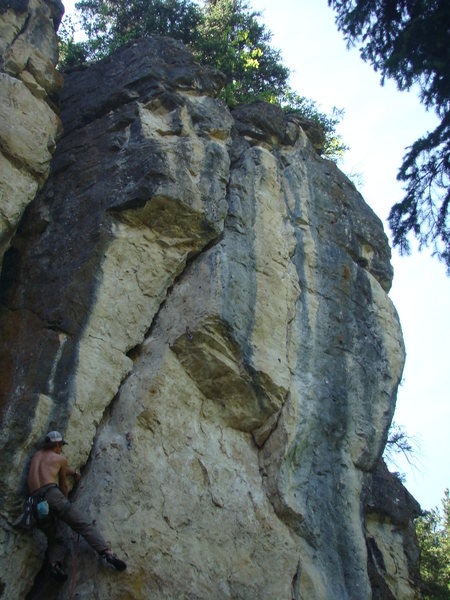 Rock Climbing Photo: Jeremy makes liebacking a religious experience on ...
