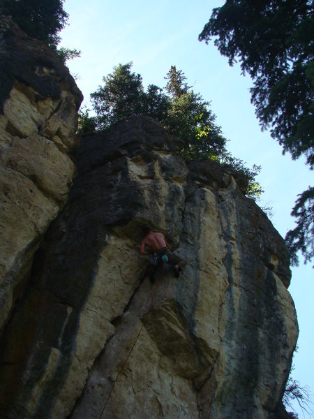 Rock Climbing Photo: Holy Slit, 5.10d.