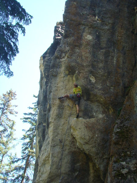 Rock Climbing Photo: Randy commits to a technical move in order to take...