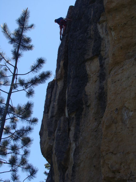 Rock Climbing Photo: Caleb Hanson gets Naked at 7-11.    This route has...