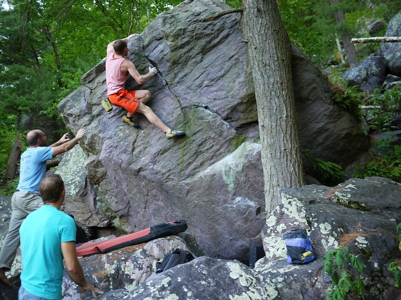 Rock Climbing Photo: Travis Melin with a quick flash repeat of this pro...
