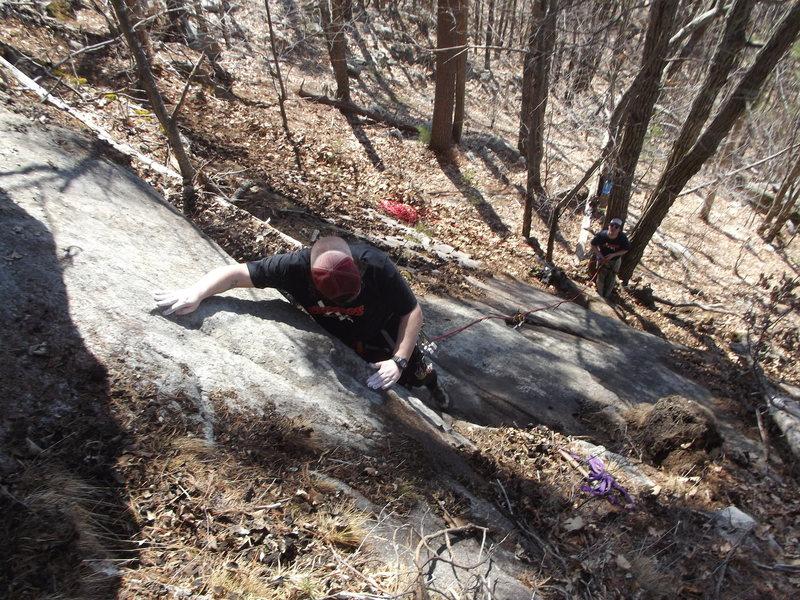 Rock Climbing Photo: Me leading Jimmy Jazz on belay.