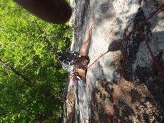 Rock Climbing Photo: Jon on the crux move.
