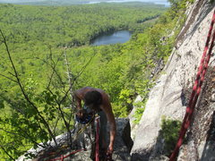 Rock Climbing Photo: The top of the Arete just befor the ancors went in
