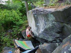 Rock Climbing Photo: Check out Travis' face!