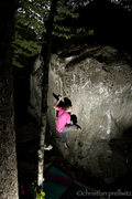 Rock Climbing Photo: Moving through the foot/hand match on 'Up Into The...