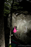 Rock Climbing Photo: The first move of 'Up Into The Green Silence'- Rum...