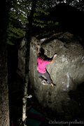 Rock Climbing Photo: 'Up Into The Green Silence'- Rumney, NH.