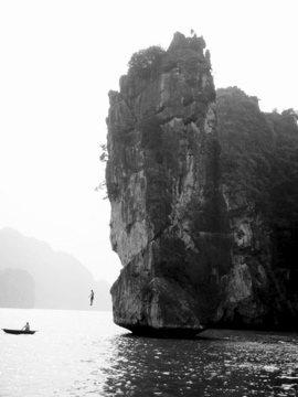 Deep Water Soloing in Ha Long Bay Vietnam