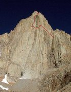 "Rock Climbing Photo: Mt. Whitney's ""Classic"" east Face"