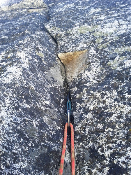 Rock Climbing Photo: Part of the right hand wall that broke off - due t...
