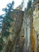 Rock Climbing Photo: Carl on Lost Soul, 5.10c