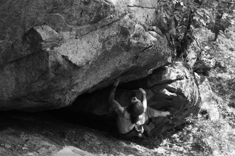 Rock Climbing Photo: not a great photo but it shows the start of the ro...