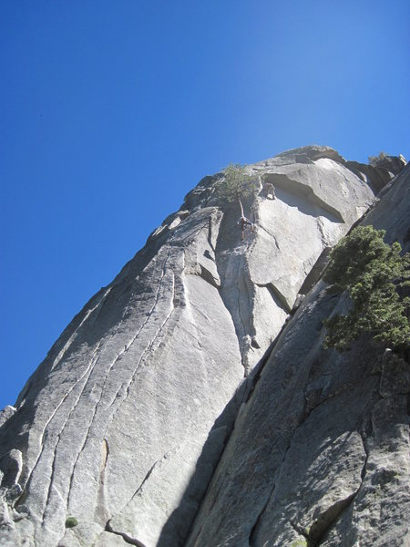 Rock Climbing Photo: Big dihedral, just in the shade.