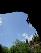 Rock Climbing Photo: Top of Pile-driver, Rifle Skull Cave.