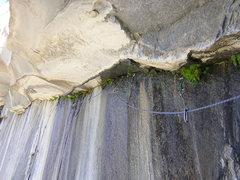 Rock Climbing Photo: slimy wet fun