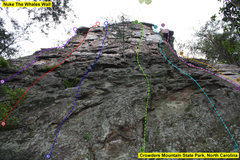Rock Climbing Photo: Nuke The Whales Wall   1)I'm Lichen The Climb(5.7)...