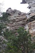 Rock Climbing Photo: Two Pitch Wall  Double Naught Spy (5.9 R)trad  Cro...