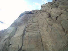 Rock Climbing Photo: This is a great route, too bad we were unable to l...