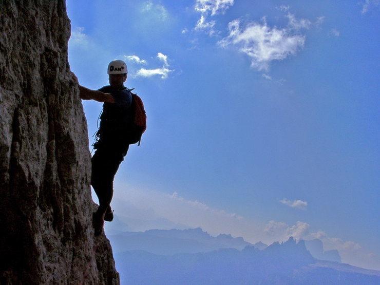 """Rock Climbing Photo: Climbing the """"Terzo Spigolo"""" - Tofana di..."""