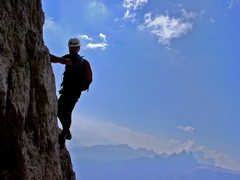 "Rock Climbing Photo: Climbing the ""Terzo Spigolo"" - Tofana di..."